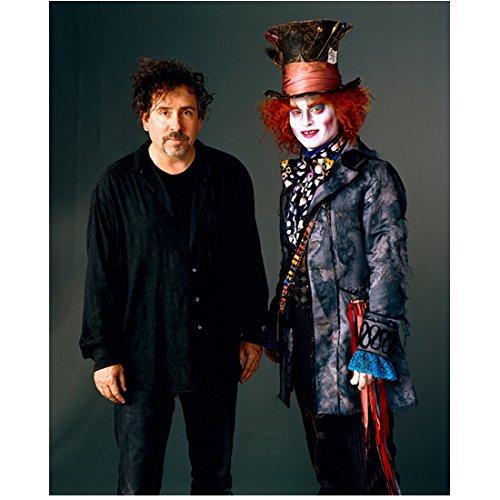 Alice in Wonderland Tim Burton with Johnny Depp as Mad Hatter 8 x 10 Inch Photo ()