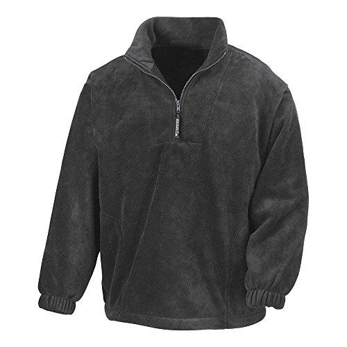 Result - 1/4 Zip Fleece Pullover XL,Oxford Grey