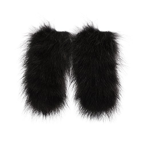 Fratelli Sagray Italian Fur Shoelace Covers Dress Up Shoes 100% Raccoon Fur Shoe Accessories for Womens, Girls, and Mens Shoes – Trendy Fur Pom Poms for Shoe Clip Inserts (S, ()