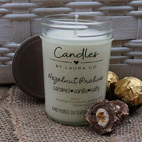(Hazelnut Praline 8 oz Soy Jar Candle )