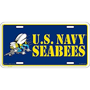 US Navy Seabees License Plate by EE, Inc.