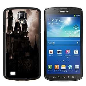 Spooky Noche Drácula Vampiro- Metal de aluminio y de plástico duro Caja del teléfono - Negro - Samsung i9295 Galaxy S4 Active / i537 (NOT S4)