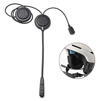 KOBWA Casco de Moto Auriculares Bluetooth Wireless Intercom Casco Heaphones Altavoces Manos Libres, Control de