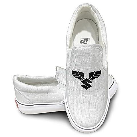 PTCY Suzuki Angel Wings Sportstyle Unisex Flat Canvas Shoes Sneaker 44 White - Littlest Angel Doll