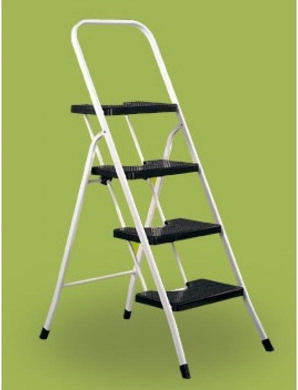 Vervi - Escalera 4 peldaños con barandilla: Amazon.es: Bricolaje y herramientas