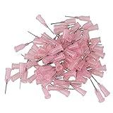 """WEONE 1/2"""" 20Ga Pink Plastic Dispensing Needles Stainless Steel Blunt Tip Needle (Pack of 100)"""
