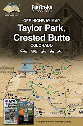 Off-Highway Map for Taylor Park, Crested Butte Colorado ()