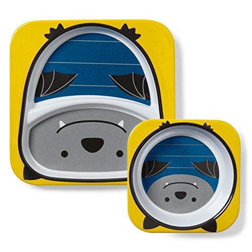 - ---Skip Hop Baby Plate and Bowl Set, Melamine, Bat