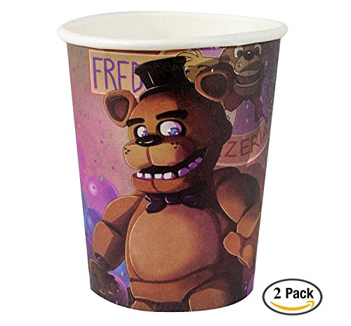 5 Nights At Freddy's 2 Costumes (Five Nights at Freddy's 9oz Paper Cups (8), 2 pack)