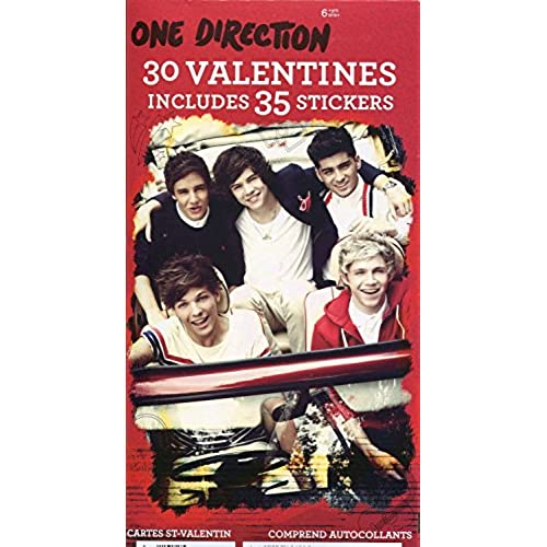 One Direction 1D 30 Valentines and 35 Stickers Sales