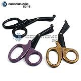 purple scissor blade - OdontoMed2011® 3 Pieces Fluoride Coated Blade Utility Scissors 5.5