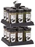 Kamenstein Madison 16-Jar Revolving Spice Rack with Free Spice Refills for 5 Years