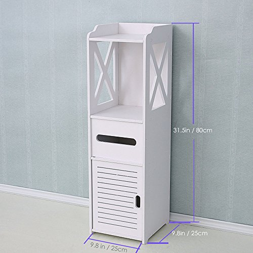 Bathroom Cabinet, Fresh Household Mini Bathroom Shelf to Storage Tissue Dispensers Organizer Rack by Fresh Household (Image #6)