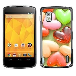 Be Good Phone Accessory // Dura Cáscara cubierta Protectora Caso Carcasa Funda de Protección para LG Google Nexus 4 E960 // Love Candy Love