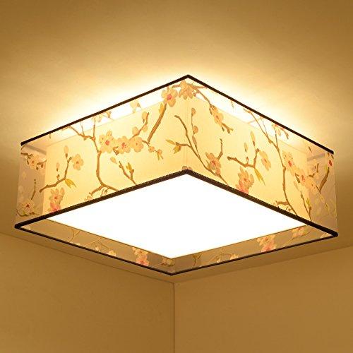 BSYY Moderno nuevo chino dormitorio techo luces led cš¢lido salš®n cuadrado minimalista estudio hospitalidad iluminaciš®n 45 * 25CM: Amazon.es: Iluminación