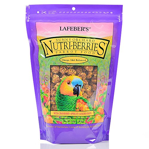 - Lafeber's Gourmet Sunny Orchard Nutri-Berries For Parrots 3-Pound Bag
