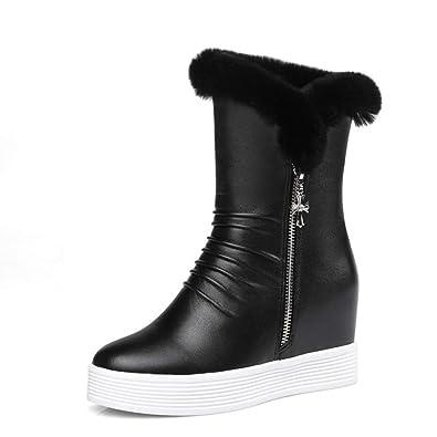0e6e9ff72 Amazon.com | JOYBI Women's Waterproof Snow Boots Side Zip Warm Fur ...