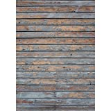Photography Floor Drop Weathered Distressed Wood Background Mat Cf636 Area Rug Rubber Backing, 4 feet x 5 feet High Quality Printing, Roll up for Easy Storage Photo Prop Carpet Mat (Can Be Used for Decorating Home Also)