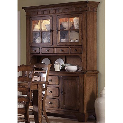 Bowery Hill China Cabinet in Rustic Oak Ash China Cabinet