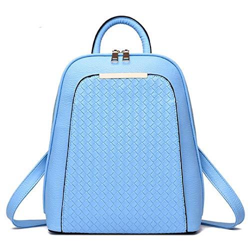 étudiants cuir sac Blue femmes été Sky coréenne marée femme Véritable occasionnel mode dos printemps sac dos Gensotrn BHwFPqW
