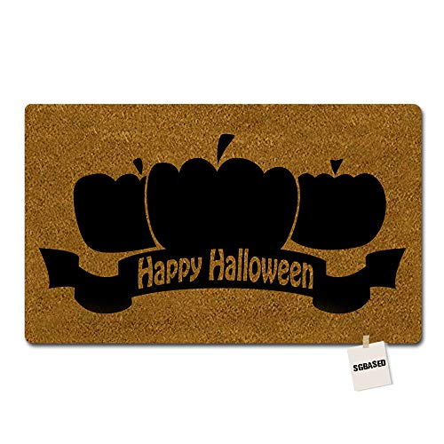 SGBASED Door Mat Funny Doormat Happy Halloween Mat Washable Floor Entrance Outdoor & Indoor Rug Doormat Non-Woven Fabric (23.6 X 15.7 inches)