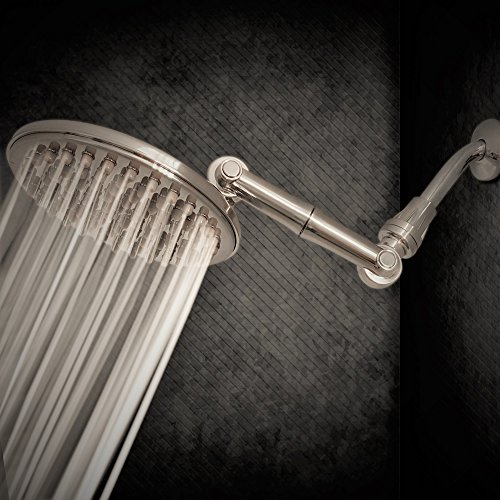 Showerhead, HealthyLifeStyle! Luxurious 9 Inch Rainfall Thunderhead High Pressure Shower Head; Complimentary Sealant Tape Included (Brushed Nickel) - Brushed Nickel Shower Heads