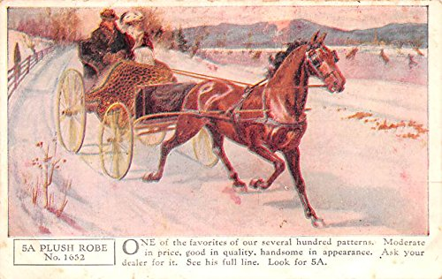 Horse Blanket Advertising Old Vintage Antique Post Card Plush Robe Writing on back