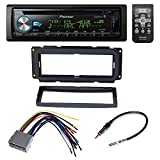 PIONEER CAR STEREO RECIEVER + DASH INSTALL MOUNTING KIT + WIRE HARNESS + RADIO ANTENNA ADAPTER FOR SELECT CHRYSLER JEEP DODGE