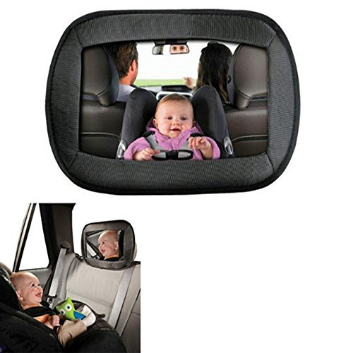 Extra Large Baby Backseat Mirror, Rear-Facing Car Seats Large Wide View Safety Mirror for Infant Baby Child