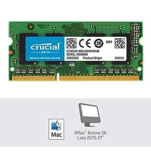 Crucial 4GB Single DDR3/DDR3L 1866 MT/s (PC3-14900) 204-Pin SODIMM RAM Upgrade for iMac (Retina 5K, 27-inch, Late 2015…