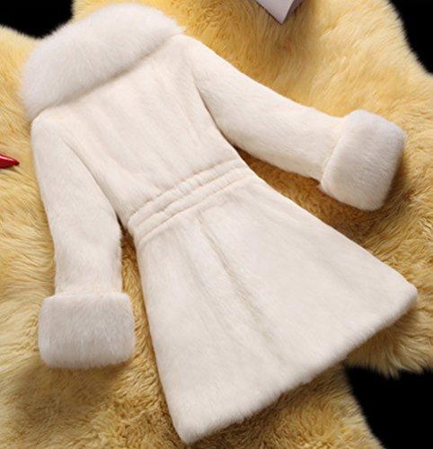 Cazadora Sintética Invierno Chengyang 2 De Chaqueta Blanco Abrigo Piel Cálida Parka 0Sw0qX
