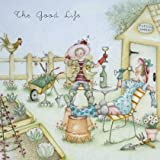 "Greetings Card ""The Good Life"" - Blank Greetings Card by Berni Parker (LL32)"