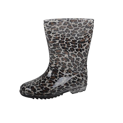 VICVIK Fashion Leopard Rain Boot(Toddler/Little Kid/Big Boy/Girl) (Little Kid 12M)
