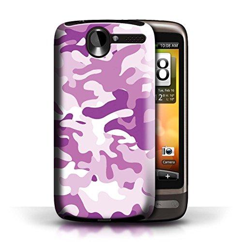 Etui / Coque pour HTC Desire G7 / Rose 1 conception / Collection de Armée/Camouflage