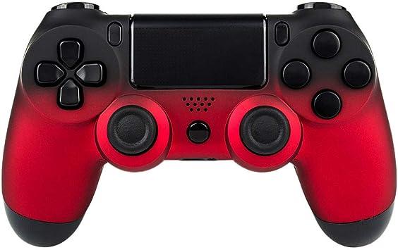 eXtremeRate Carcasa Mando PS4 Funda Delantera Protectora de la Placa Frontal Cubierta Reemplazable Antideslizante para Mando del Playstation 4 PS4 Original Sombra Rojo: Amazon.es: Electrónica
