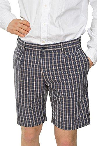 Incotex Pantalon Homme 46 Bleu / Short Taille normale