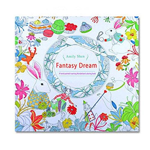 GOODCULLER Fantasy Dream Fun Adult Coloring Book Designs Stress Relief Coloring Book Mandalas Animals- Adult Coloring Book: Inspiration, Relaxation, Meditation, Zen - Giant Elmo Coloring Book
