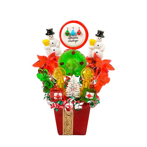Escape Concepts Gold Ribbon Lollipop Bouquet