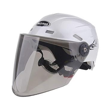 Sharplace Casco de Mitad de Motocicleta Que Monta Tamaño Libre de Cascos Ciclo - Plata