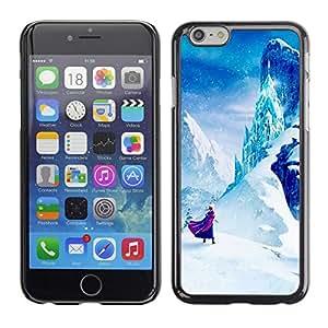 Caucho caso de Shell duro de la cubierta de accesorios de protección BY RAYDREAMMM - Apple iPhone 6 Plus 5.5 - Mountain Fairytale Kids Children'S