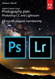 Adobe Creative Cloud Photography Plan: Photoshop CC Plus Lightroom - 12-Month Licence - Download (PC/Mac)