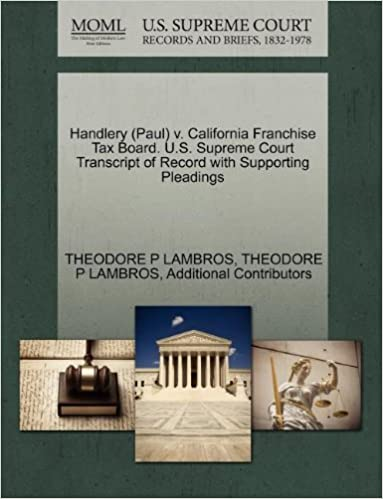 Handlery (Paul) v  California Franchise Tax Board  U S