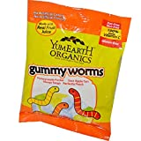 YumEarth Gummy Worms Assorted Flavors 12 Packs 2 5 oz 71 g Each