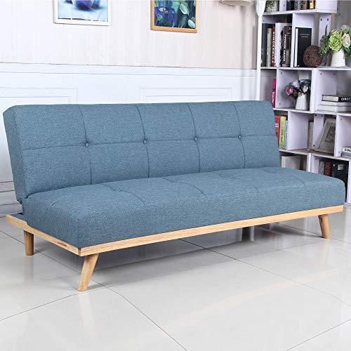 Sofá Cama 3 plazas Clic Clac Rimen Azul tapizado con Tela ...