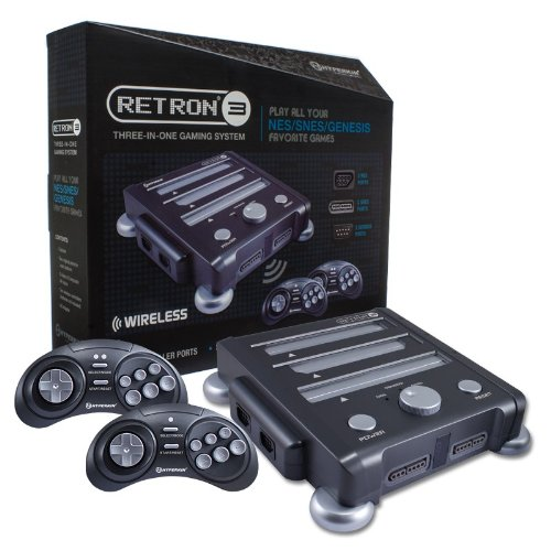 Hyperkin Retron 3 Video Game System for NES/SNES/GENESIS - Gray