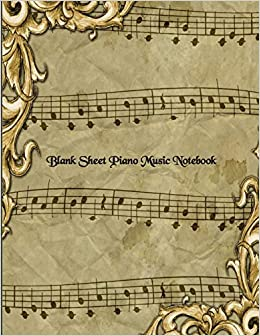 Blank Sheet Piano Music Notebook For Piano Players Large