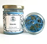 Healing 6 oz Soy Candle for Grief, Sadness, Stress & Emotional Turmoil Herbal