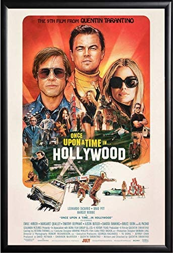 Movie Poster Once Upon A Time in Hollywood Size 24x36 This is a Certified Poster Office Print with Holographic Sequential Numbering for Authenticity.