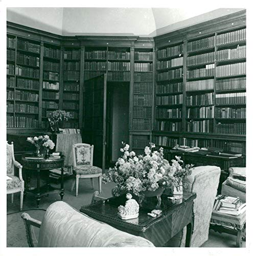 Vintage photo of The late Lord Rosebury39;s octagonal library, Mentmore Towers. ()