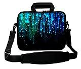 ArcEnCiel 17 17.3 inch Neoprene Laptop Sleeve Bag Carrying Case with Handle and Adjustable Shoulder Strap